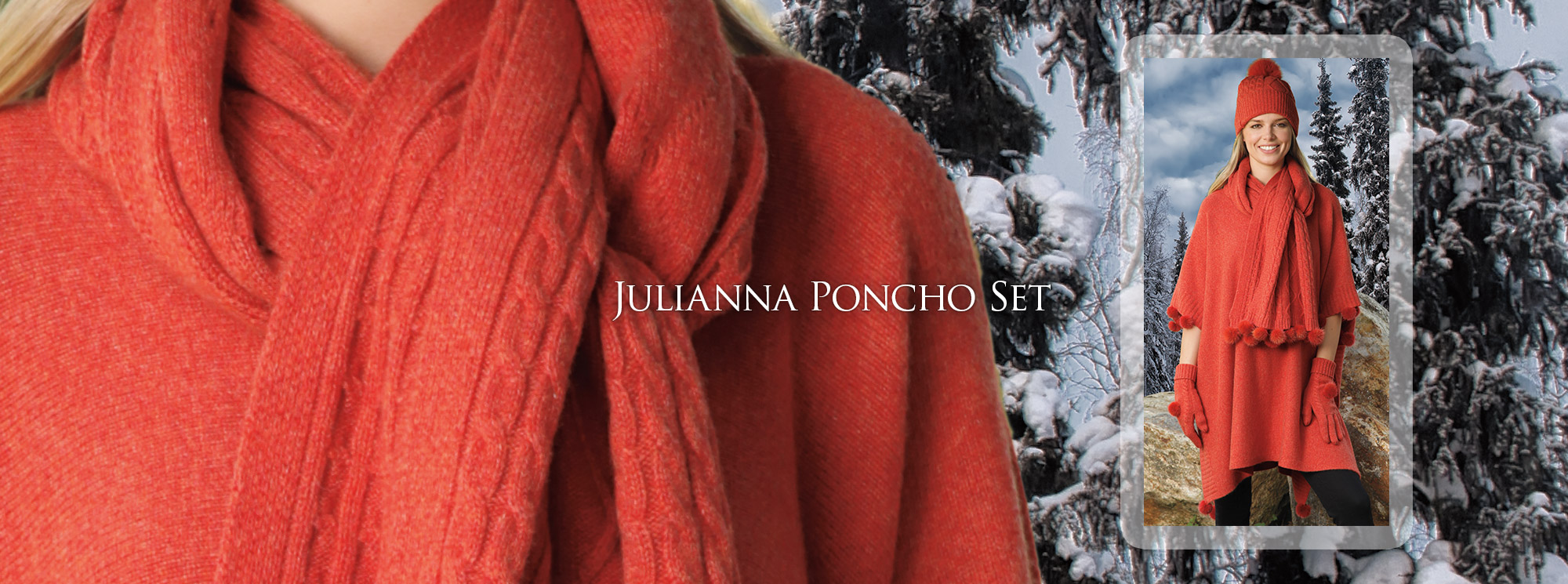Julianna Poncho Set