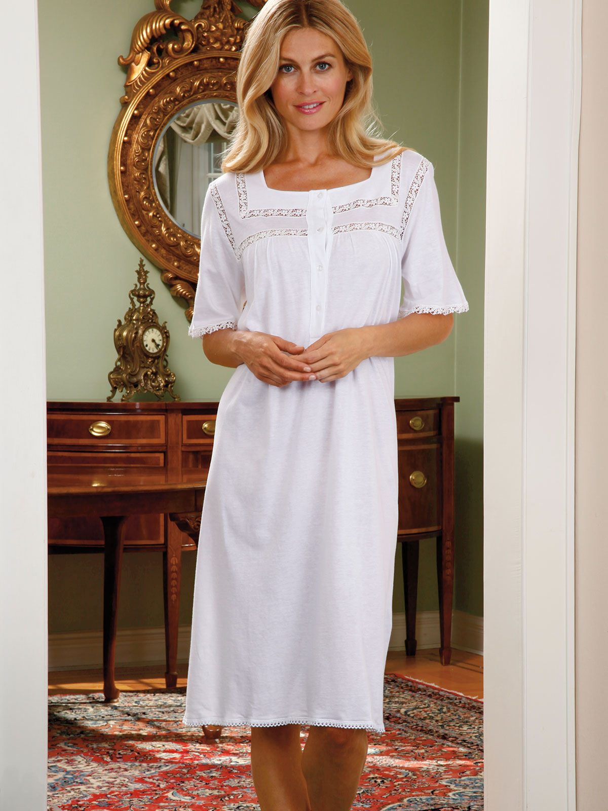 Charlotte Nightgown Luxury Nightwear Schweitzer Linen