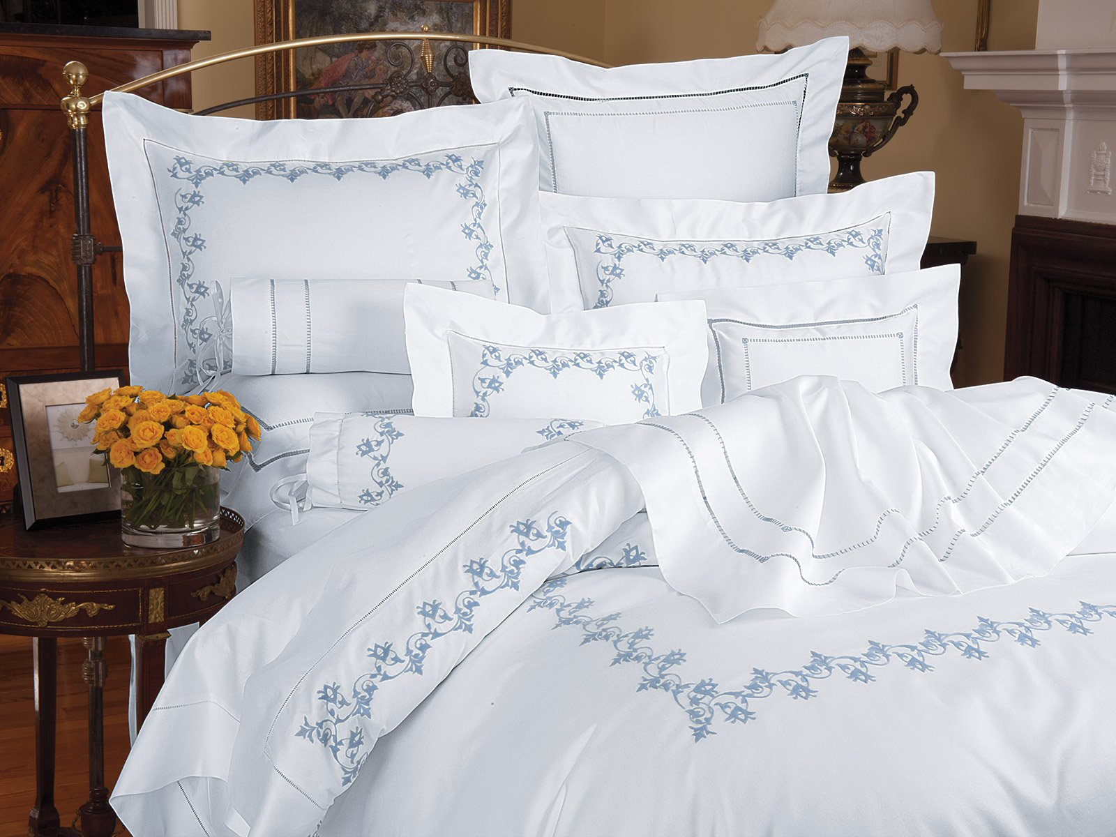 Flowering Vine Luxury Bedding Italian Bed Linens