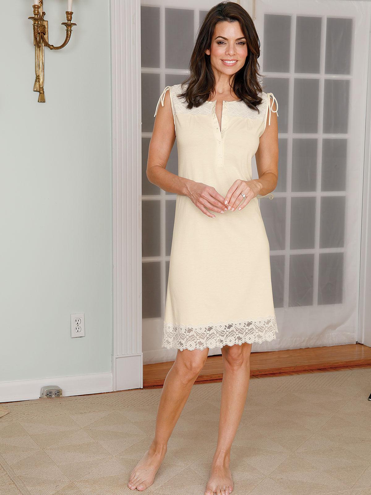 Victoria Luxury Nightwear Schweitzer Linen