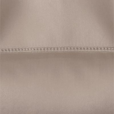 Fitted Taupe Sateen
