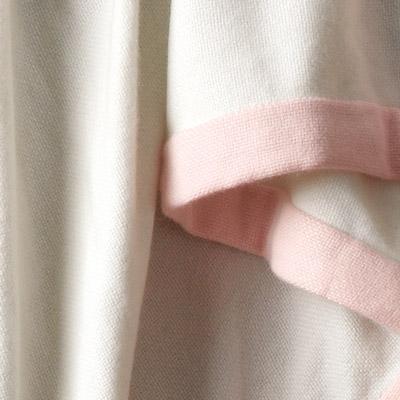 Ivory w. Pink Border