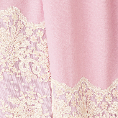 Pink with Ivory