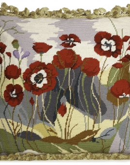 Poppies Tapestry Pillow
