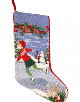 Christmas Stockings: Ice Skater
