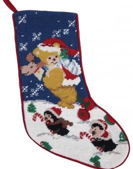 Christmas Stocking: Bear & Penguins