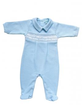 Kieran - Piqué Smocked Jumpsuit
