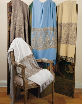 Cashmere & Lace Throw