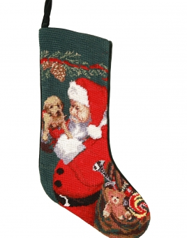 christmas stockings santa u0026 puppy