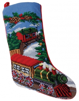 Christmas Stockings: Train