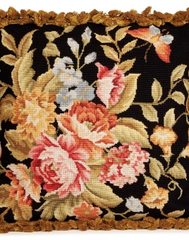 Night Bloom Tapestry Pillow