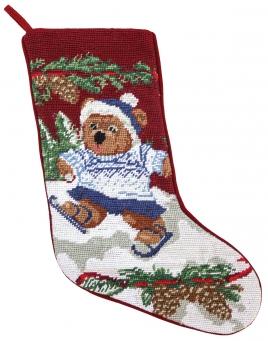 Christmas Stocking: Skating Bear