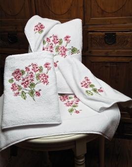 Geranium Towels