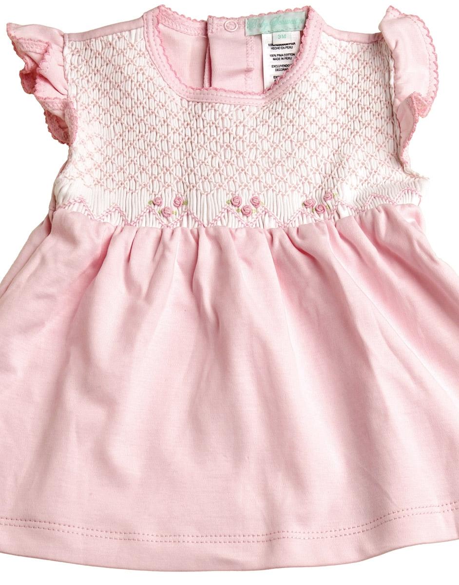 Lilian - Smocked Placket Dress & Bloomers
