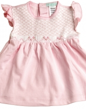 Lilian - Smocked Placket Dress & Bloomers